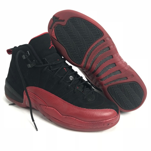 online store dc99f 2bfa6 Nike Air Jordan XII Retro 12 Flu Game Black 7Y